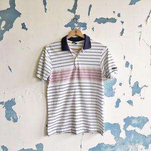 Vintage Wranlger USA Made Striped Polo Shirt